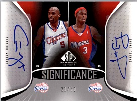 Authentic Cuttino Mobley & Daniel Ewing Duel Autograph Card
