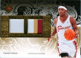 Authentic Daniel Gibson Dual Gold Game Worn Patch