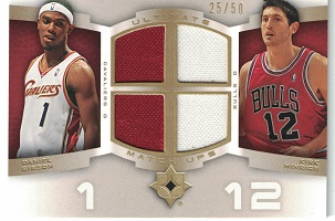 Authentic Daniel Gibson & Kirk Hinrich Quad Game-Worn Jersey