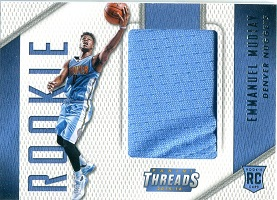 Authentic Emmanuel Mudiay Autograph Rookie Game Worn Jersey Card