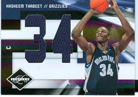 Authentic Hasheem Thabeet Rookie Dual Game-Worn Jersey Card