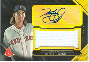 Authentic Henry Owens Autograph Game-Worn Jersey