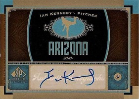 Authentic Ian Kennedy Autograph Card