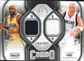 Authentic Jamaal Tinsley & Jason Kidd Dual Game-Worn Jersey