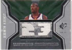 Authentic Jason Richardson Dual Game-Worn Jersey Card