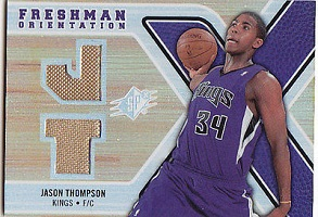 Authentic Jason Thompson Dual Rookie Game-Worn Jersey