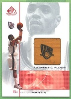 Authentic Kenyon Martin Game-Used Floor