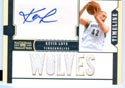 Authentic Kevin Love Autograph 6 Patch Game-Worn Jersey Card