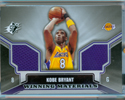 Authentic Kobe Bryant Dual Game-Worn Jersey Card