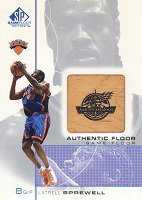 Authentic Latrell Sprewell Game-Used Floor