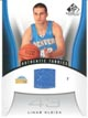 Authentic Linas Kleiza Game-Worn Jersey Card