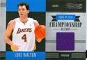 Authentic Luke Walton Game Worn Jersey Card