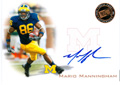 Authentic Mario Manningham Rookie Autograph Card