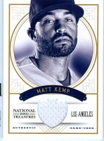 Authentic Matt Kemp Game Worn Jersey Card