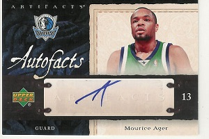 Authentic Maurice Ager Autograph