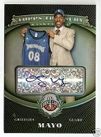 Authentic O.J. Mayo Rookie Autograph Card