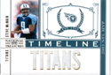 Steve McNair 6 Patch Game Worn Jersey