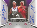 Authentic T.J. Ford & P.J. Tucker Dual Autograph
