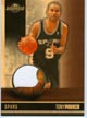 Authentic Tony Parker Game-Worn Jersey Card