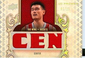 Authentic Yao Ming Triple Game-Worn Jersey